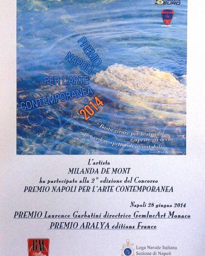 Milanda de Mont 2014 Winner Naples Contemporary Award