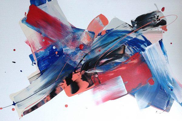 2016 Milanda de Mont White space #2 acrylic on canvas 80cm x 120cm