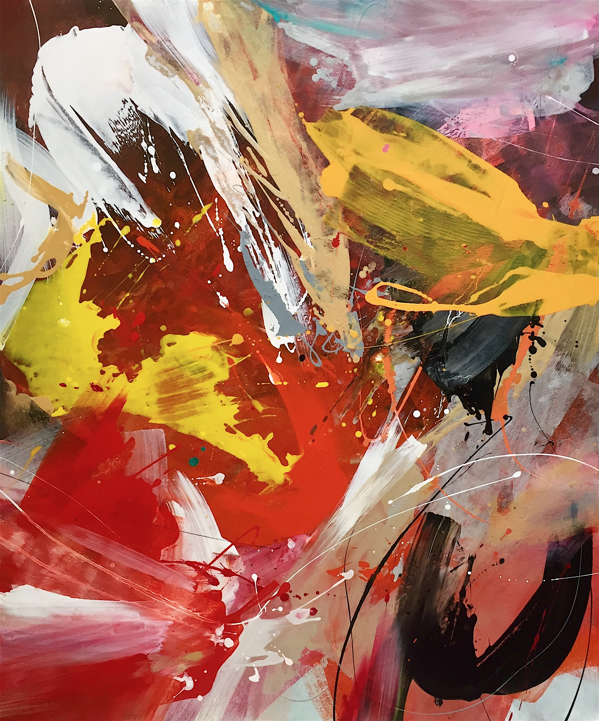 2020 Milanda de Mont Freespaces Acrylic & Enamel on canvas 100 x 120cm