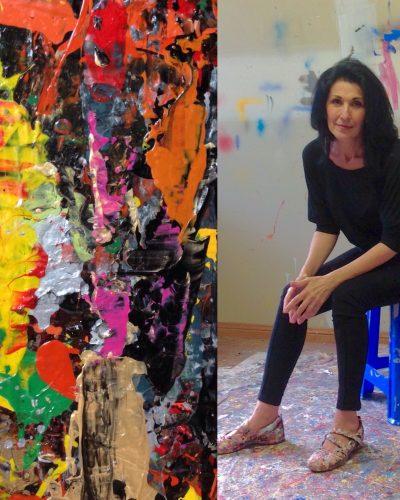 Milanda de Mont Artist Portrait. In my Studio 2014.